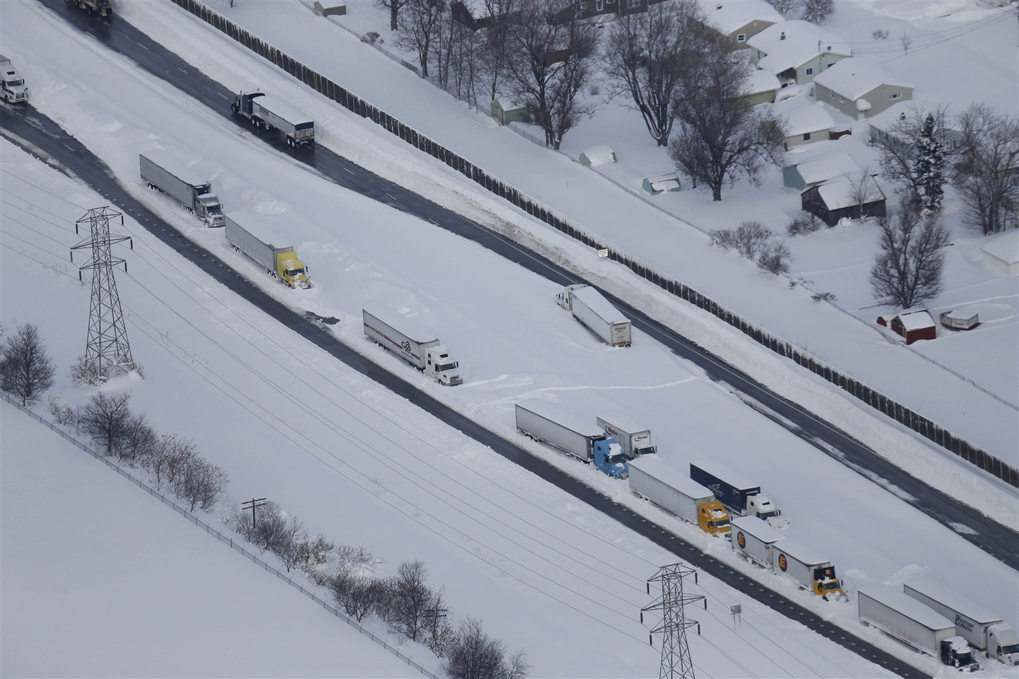 Snow-hit Buffalo: A bird's eye view