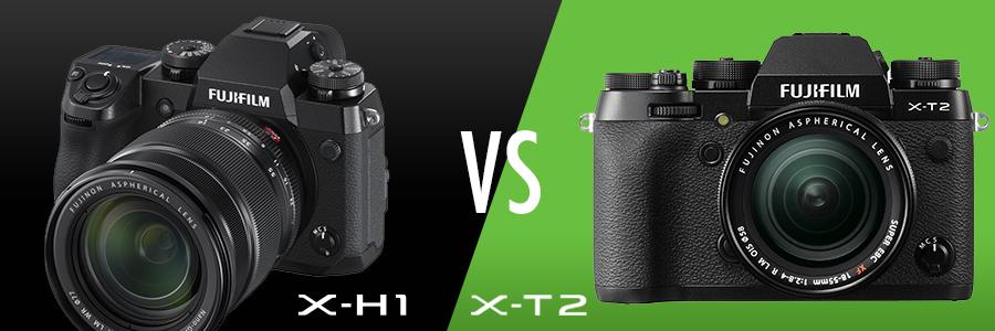 Fujifilm X-H1 vs X-T2 comparison