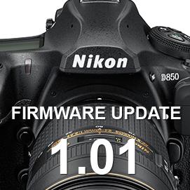 Nikon D850 Firmware Update 1.01 (1-16-18)