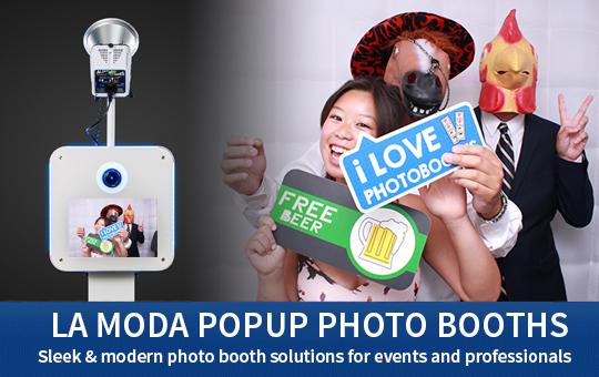 La Moda popup photo booths