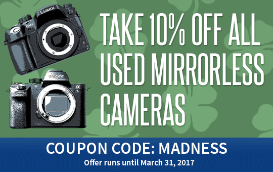 10% off all used mirrorless cameras
