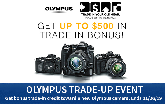 Olympus Trade Up Event