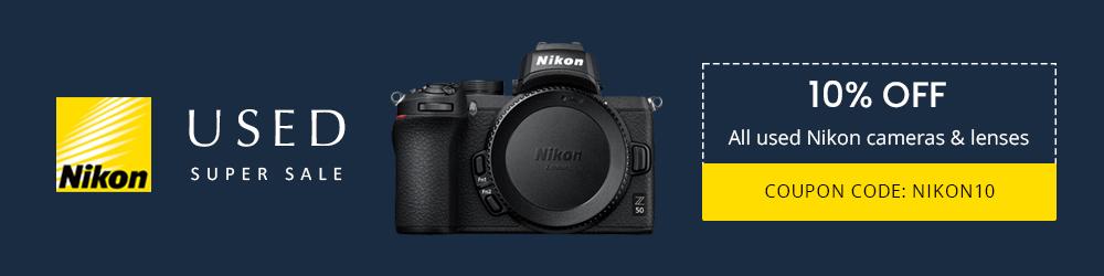 10% off used nikon. coupon code NIKON10