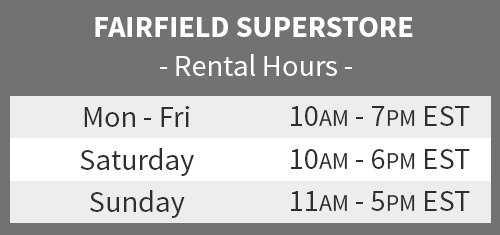 fairfield location rental hours