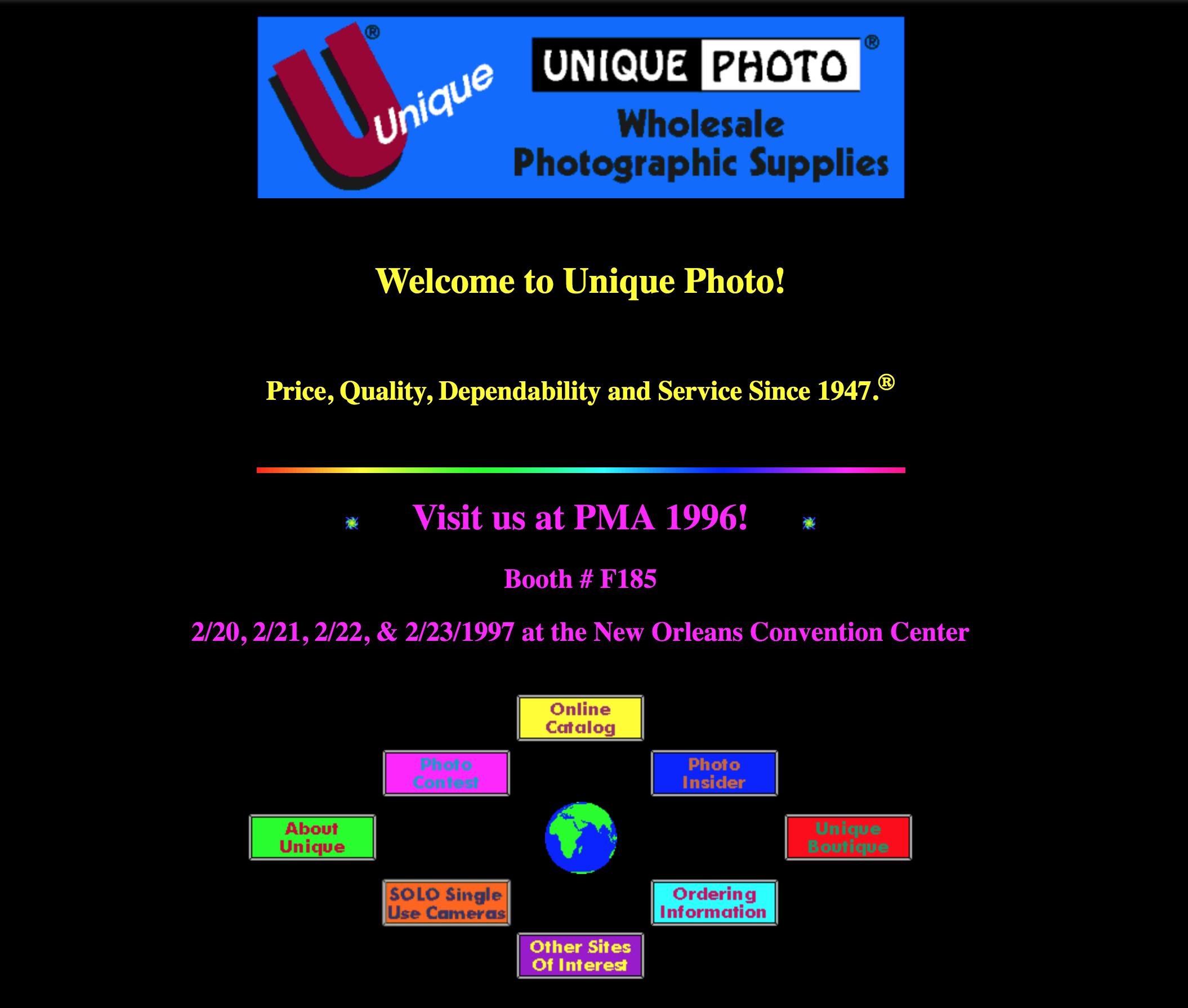 Unique Photo website 1996