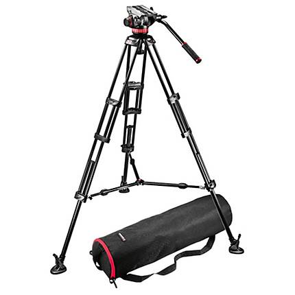 Manfrotto MVH502A Head And 546BK Video Tripod System With Case