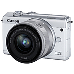 Canon EOS M200 Mirrorless Digital Camera with 15-45mm Lens Kit (White)