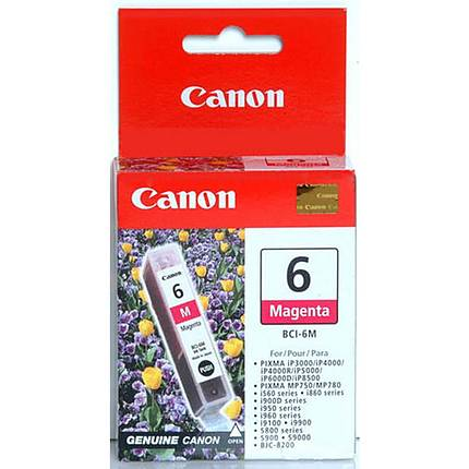 Canon BCI-6M Magenta Ink Cartridge for select ink jet printers
