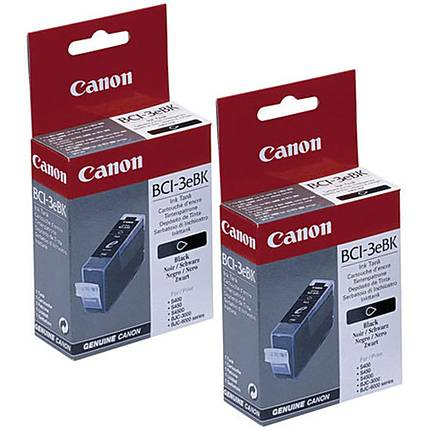 Canon BCI-3eBK Black Ink Cartridge Twin-Pack