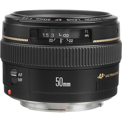 Canon EF 50mm f/1.4 USM Medium Telephoto Lens - Black