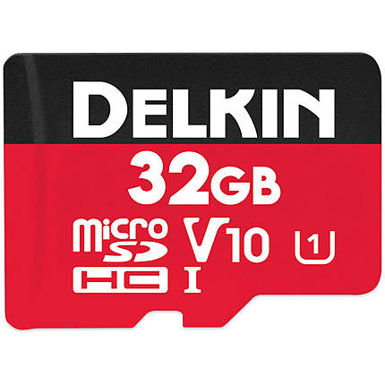 Delkin Devices 32GB Select MicroSDHC UHS-I 100MB/s Read 30MB/s Write