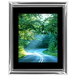 12x18 Custom Silver Metal Frame, Black Mat with Glass