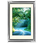 12x18 Custom Silver Metal Frame, Off-White Mat with Glass