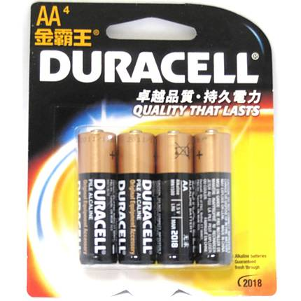 Duracell AA 4-PK Alkaline Battery (Imported)