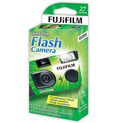 Fujifilm 35mm One-Time-Use Disposable Camera flash  400ASA