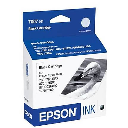 Epson T007201 Black Ink Cartridge for Epson Stylus Photo 1270, 1280 and