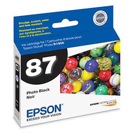 Epson T087 UltraChrome Hi-Gloss 2 Photo Black Ink for Stylus Photo R1900