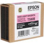 Epson T580B00 UltraChrome K3 Vivid Light Magenta Ink 80ml for Stylus Pro3880