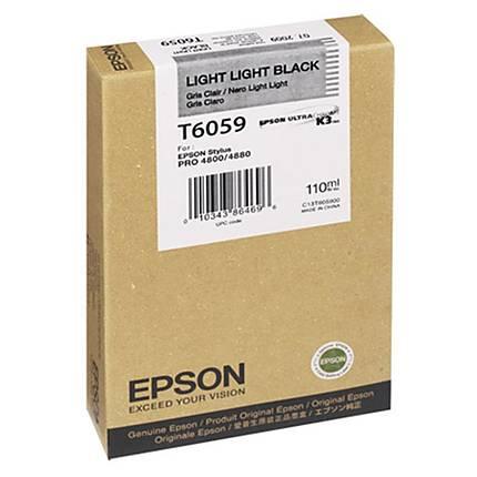 Epson T6059 UltraChrome K3 Light Light Black Ink 110ml for Stylus Pro 4880