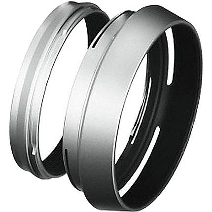 Fujifilm LH-X100 Lens Hood with Adapter Ring for the X100S Camera (Silver)