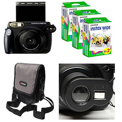 Fujifilm Instax 210 Deal with Camera, 3 Packs of Film and Case