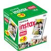 Fujifilm Instax Mini Film Five Pack (50 Pictures) 5-SINGLE PACKS