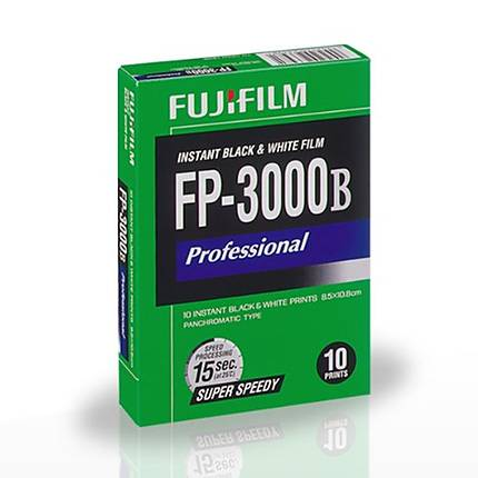 Fujifilm FP-3000B Instant Black  and  White Film NO LONGER AVAILABLE-