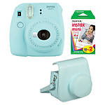 Fuji Instax Mini 9 Ice Blue Camera with Film  and  Groovy Case