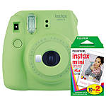Fuji Instax Mini 9 Lime Green Camera with Mini Film Twin Pack
