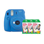 Fujifilm Instax Mini 9 Cobalt Blue Camera with Three Mini Film Twin Packs