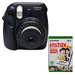 Fujifilm Instax Mini 8 Instant Film Camera (Black) with Twin Pack Film