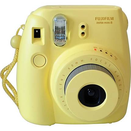Fujifilm Instax Mini 8 Deal- Mini 8 Yellow Camera, 3 Packs of Film and Bag