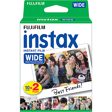 Fujifilm Instax Instant Wide Film Twin (20 Pictures)  for 210 and 300 camera