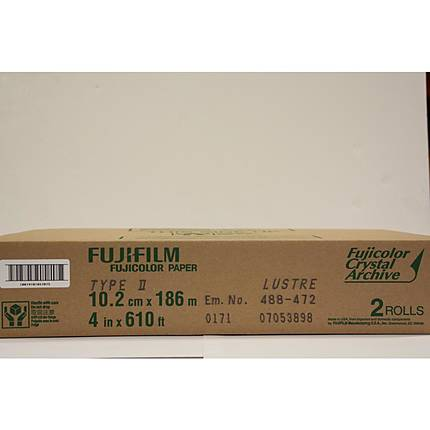 Fujifilm 4 In. x 610 Ft. Paper Crystal Archive Type II Lustre (Roll)