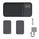 GNARBOX 2.0 SSD (512GB) Rugged Backup Device w/2x Batteries, XQD Reader,  and  D