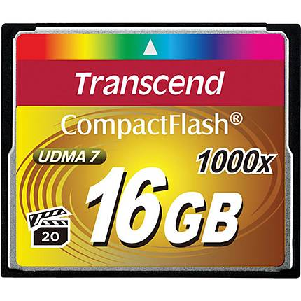 Transcend 16GB 1000x Compact Flash Card