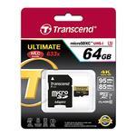 Transcend 64GB Ultimate UHS-I microSDXC Memory Card (Class 10)