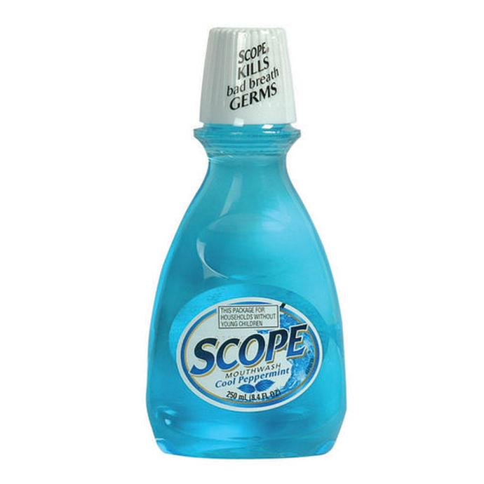 Scope mouthwash 250ml peppermint blue oral hygiene health beauty at unique photo - Unusual uses for mouthwash ...