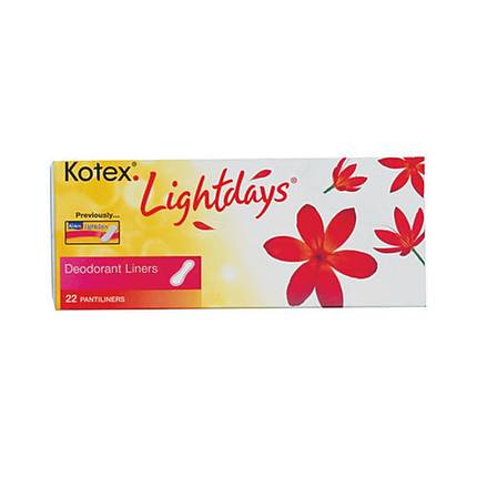 Kotex Lightdays Pads 22ct Regular Scented Deodorant