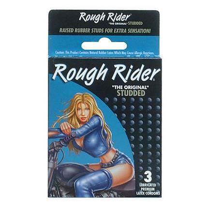 Rough Rider Condoms 3pk Studded Contempo Brand