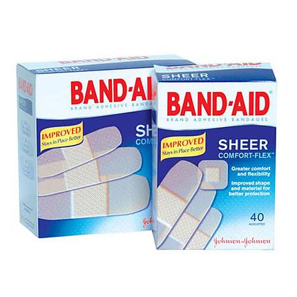 Johnson  and  Johnson Band Aid Plastic 30ct Assorted