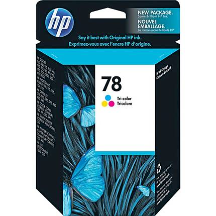 HP Model C6578DN No. 78 Tri-Color Inkjet Cartridge - OEM HP USA