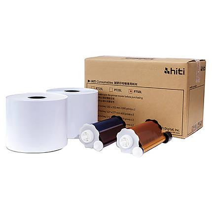 HiTi 4x6 P750L Ribbon  and  Paper Case (1000 Sheets/Roll, 2 Rolls/Carton)