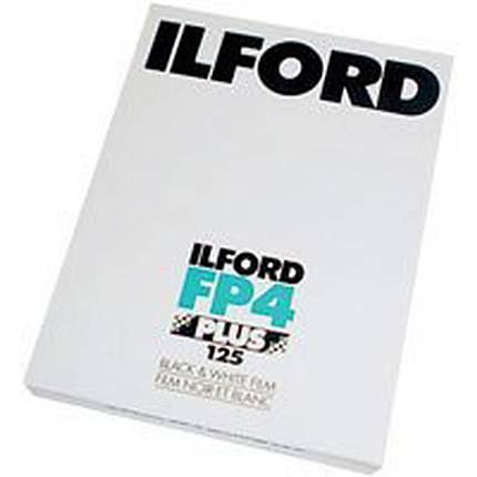 Ilford FP4 Plus 4x5 100 Sheets Black  and  White Negative (Print) Film (ISO-125)