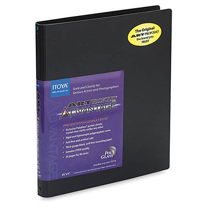 Itoya 8 x 10 In. Art Profolio Advantage Presentation Book (24 Pages)