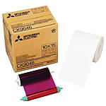 Mitsubishi 4 x 6 In. Paper Roll  and  Inksheet for CP-9550DW     CK-9046