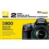 Nikon 2-year Extended Service Coverage for D800