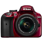 Nikon D3400 DX-format DSLR with AF-P DX NIKKOR 18-55mm f/3.5-5.6G VR Red