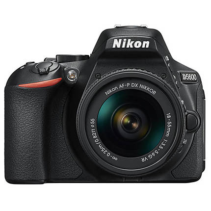 Nikon D5600 DX-format DSLR with AF-P DX NIKKOR 18-55mm f/3.5-5.6G VR Black