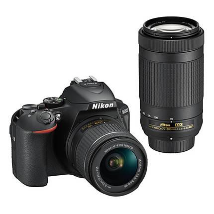 Nikon D5600 DSLR with 18-55mm f/3.5-5.6G VR  and  70-300mm f/4.5-6.3G ED Black